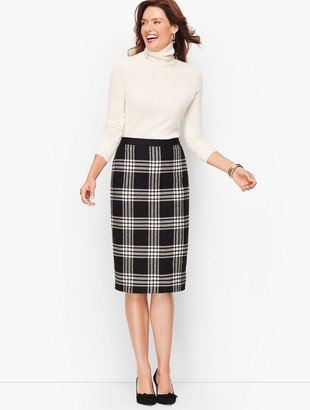 Talbots Plaid Sparkling Pencil Skirt