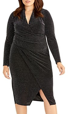 Rachel Roy Plus Bret Metallic Ruched Dress
