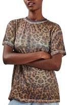 Topshop Women's Burnout Leopard Print Tee