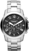 Fossil Grant Chronograph Watch Silvercoloured