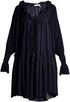See by Chloe Ruffled gauze-jersey dress