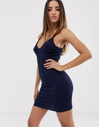 Club L London strappy mini dress-Navy