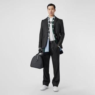 Burberry Slim Fit Zip Detail Linen Blend Tailored Jacket