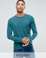 Jack Wills Dunsford Long Sleeved T-shirt In Green