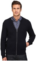 Scotch & Soda Zip-Thru Cardigan in Merino/Cotton Quality Men's Sweater