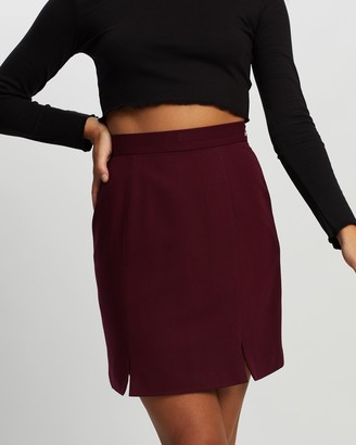 Atmos & Here Atmos&Here - Women's Red Mini skirts - Ollie Mini Skirt - Size 6 at The Iconic