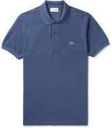 Lacoste Mélange Cotton-piqué Polo Shirt - Blue