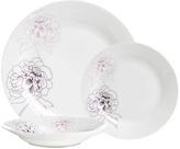 Avie Botanic Purple Flora 12 Piece Porcelain Dinner Set