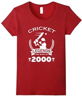 Women's Cricket Legends Are Born In 2000 Birthday Gift T-shirt XL
