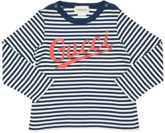 Gucci Stripes Cotton Jersey T-shirt