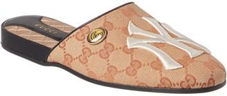 Gucci Ny Yankees Gg Canvas Slipper