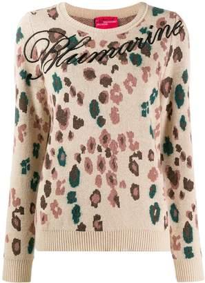 Blumarine floral logo jumper