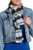 David & Young Striped Metallic Knit Scarf