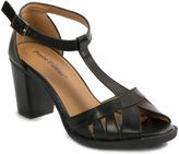 Pierre Dumas Black T-Strap Carina Sandal