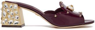 Dolce & Gabbana Embellished Patent-leather Mules