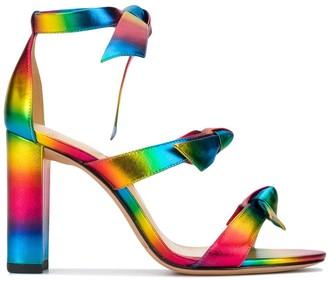 Alexandre Birman Rainbow Stripe Sandals