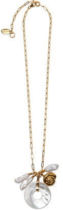 Lizzie Fortunato Deep Sea Charm Necklace