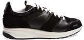 Ami Low-top leather and suede-panelled trainers