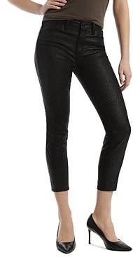 Mavi Jeans Tess Cropped Skinny Jeans in Black Snake