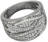 Lord & Taylor Sterling Silver Pave Banded Diamond Ring, 0.50 TCW