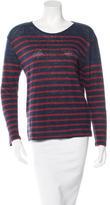 Current/Elliott Striped Linen T-Shirt