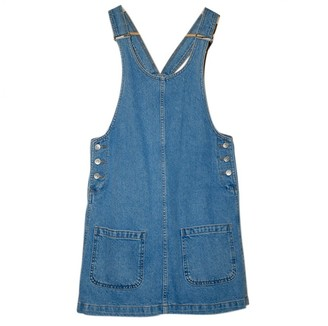 Topshop Tophop Blue Denim - Jeans Dress for Women