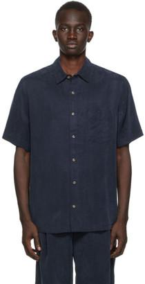 Nanushka Navy Adam Shirt