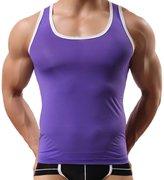 FEOYA Mens Breathable Vest Undershirts Ice Silk Tank Tops , Medium