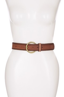 Frye Leather Stud Trim Belt