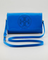 Tory Burch Perforated Logo Clutch Bag, Evening Sky