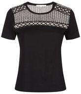 Maje Toby Eyelet Lace T-Shirt