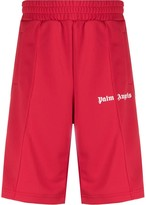 Palm Angels side-striped track shorts