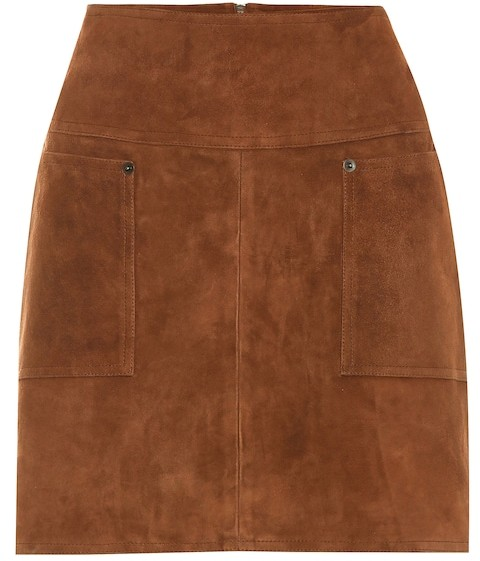 51f8dcacd Brown Suede Skirt - ShopStyle