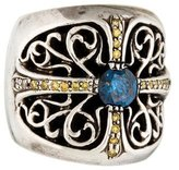 Chrome Hearts Blue & Yellow Diamond Band