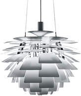 Louis Poulsen PH Artichoke Pendant Light - Stainless Steel - 230W HALOLUX Clear E27 - 600