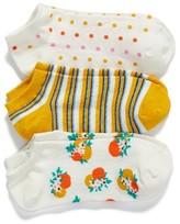 Kate Spade Women's Orangerie Pack Of 3 No-Show Socks