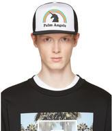 Palm Angels Black and White Unicorn Cap