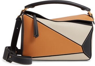 Loewe Puzzle Calfskin Leather Shoulder Bag