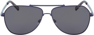 NAUTICA EYEWEAR Men's N4636SP 6013 (420) Matte Navy Sunglasses