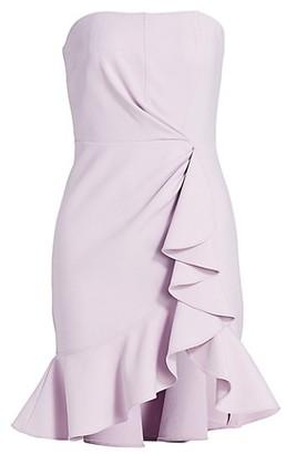 Cinq à Sept Cassandra Strapless Ruffle Sheath Dress