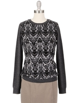GRYPHON Sequin Ikat Sweater