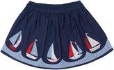 Jo-Jo JoJo Maman Bebe Nautical Skirt (Toddler/Kid) - Navy-4-5