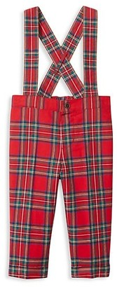Janie and Jack Baby Boy's Plaid Cotton Suspender Pants