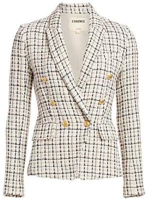 L'Agence Kenzie Tweed Blazer
