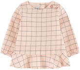 Jean Bourget Checked crepe blouse