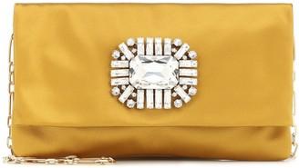 Jimmy Choo Titania embellished satin clutch