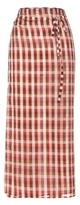 Miu Miu Plaid cotton wrap skirt