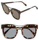 Bottega Veneta Women's 50Mm Retro Sunglasses - Bronze/ Bronze/ Copper