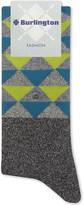 Burlington Fashion diamond pattern odd cotton-blend socks