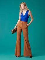 Diane von Furstenberg Pleat Front Flare Pant